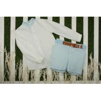 Traje infantil niño pantalón corto y cinturón 220 YOEDU