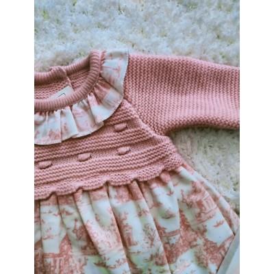 vestido bebe rosa palo cuerpo punto 526.1