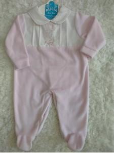 Pijama bebe terciopelo rosa BF 150