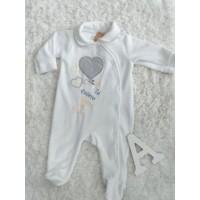 Pijama bebe terciopelo blanco 150 BF