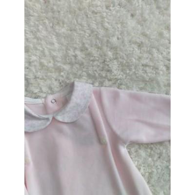 Pijama terciopelo bebe rosa 150.6