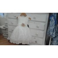 LOANBOR  vestido beig ceremoniaREF4447