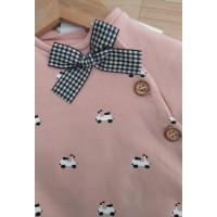 pelele algodon rosa palo  motitos PAZ RODRIGUEZ 39780
