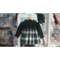 vestido Valentina con capota cuadros escoceses ref17159