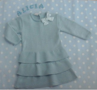 vestido de punto verde agua PAZ RODRIGUEZ 0066