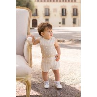 Blusa y pantalón corto bebé niño 2106 DOLCE PETIT