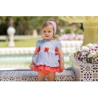 Vestido y braguita bebé 2142 DOLCE PETIT
