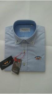 SPAGNOLO camisa popelin boton rayas azulon