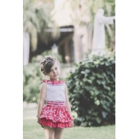 conjunto falda rojo DOLCE PETIT 2260