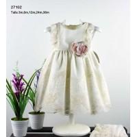 Vestido bebe cermonia 27102 crudo