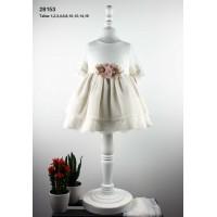 vestido crudo ceremonia LILUS 28153