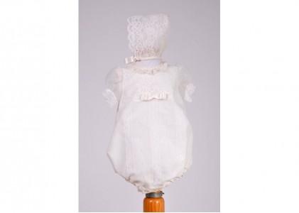 Pelele bautizo  cristal con capota  ALVES