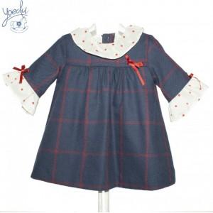 vestido bebe marinoYOEDU art 5100 familia LONDON