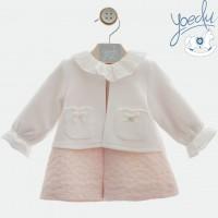 Vestido bebé con chaquetita Iliada 5118 YOEDU