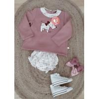 Conjunto cubrepañal KIZ rosa toscana CC46