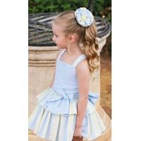Vestido niña  celeste y amarillo 7003 Dbb collection
