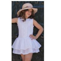 NEKENIA vestido niña blanco  ref1721853