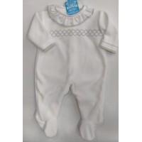 pijama terciopelo blanco 150.1 BABY