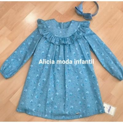 vestido niña azul  NEKENIA 1911855
