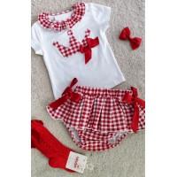 Conjunto camiseta y braguita vichi rojo461164 petit
