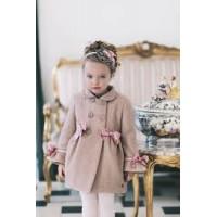 abrigo niña rosa DOLCE PETIT 2248A