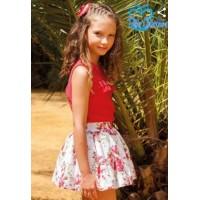 Conjunto rojo falda niña 06606 DBBcolleccion
