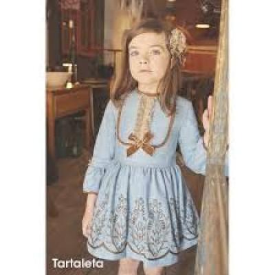 Vestido Tartaleta turquesa 9261
