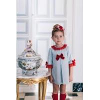 vestido niña DOLCE PETIT 2242/V gris  invierno 2017