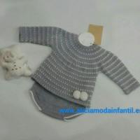 conjunto de jersey y ranita gris BABIDIF 881157