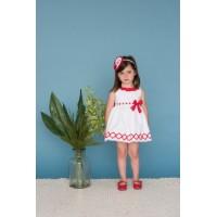 vestido blanco y rojo dolce petit