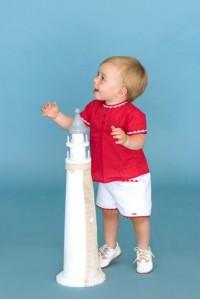DOLCE PETIT conjunto niño rojo ref2145