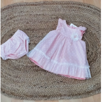 vestido rosa plumeti con braguita mayoral 1872