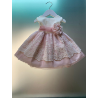 vestido ceremonia tul rosa palo LILUS27103