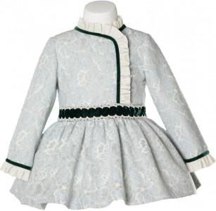 vestido MIRANDA encaje verde 234V