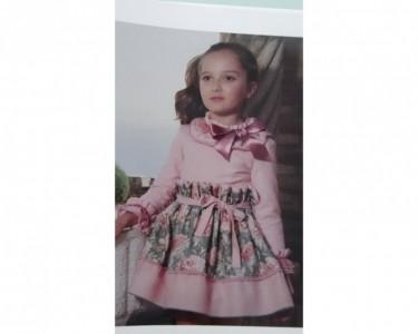 vestido niña NEKENIA  rosa y verde 1711807 invierno