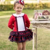 Vestido niña rojo DOLCE PETIT 2200V