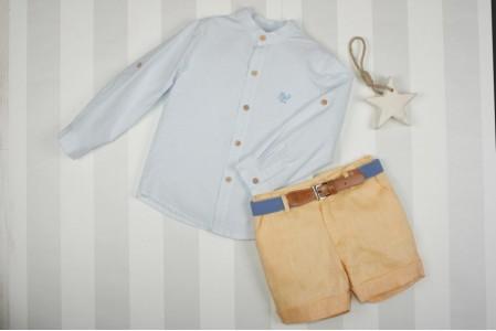Traje infantil niño bermuda y cinturón. MARTA Y PAULA. 1212 Ópalo