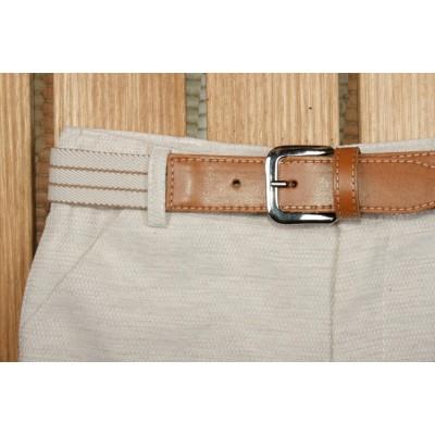 Traje infantil niño pantalon bermuda y cinturón. YOEDU. 1225