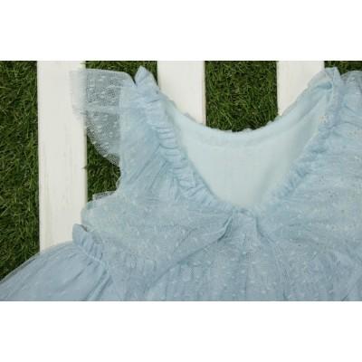 Vestido niña celeste MARTA Y PAULA 501 . Fam. Perla