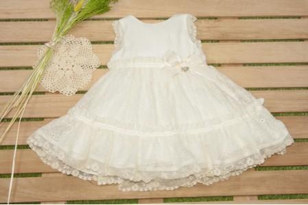 Vestido infantil Nácar.MARTA Y PAULA. 0504