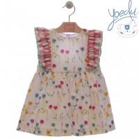 Vestido infantil Rosas 0506 YOEDU