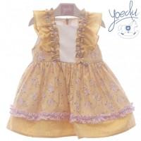 Vestido amarillo infantil 0523 YOEDU familia  PADUA
