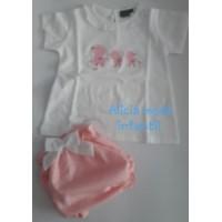 Conjunto pololo KIZ bebe niña rosa
