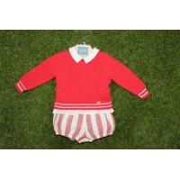 Conjunto baby con jersey YOEDU 1202 rojo