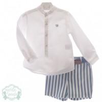 Traje infantil niño pantalon bermuda y cinturón 1205 MARTA Y PAULA