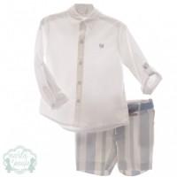 Traje infantil niño pantalón bermuda y cinturón 1206 MARTA Y PAULA