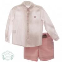 Traje infantil niño pantalón bermuda y cinturón Afrodita 1207 MARTA Y PAULA