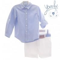Traje infantil niño pantalón bermuda y cinturón San Marino 1215 YOEDU