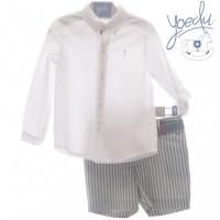 Traje infantil niño pantalón bermuda y cinturón Bolonia 1222 YOEDU