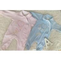 Pijama bebe celeste BABY F con frase te quiero mama y papa